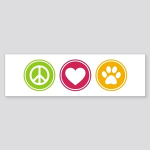 Peace - Love - Dogs Sticker (Bumper)